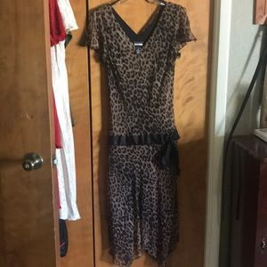 Animal print summer dress size 12